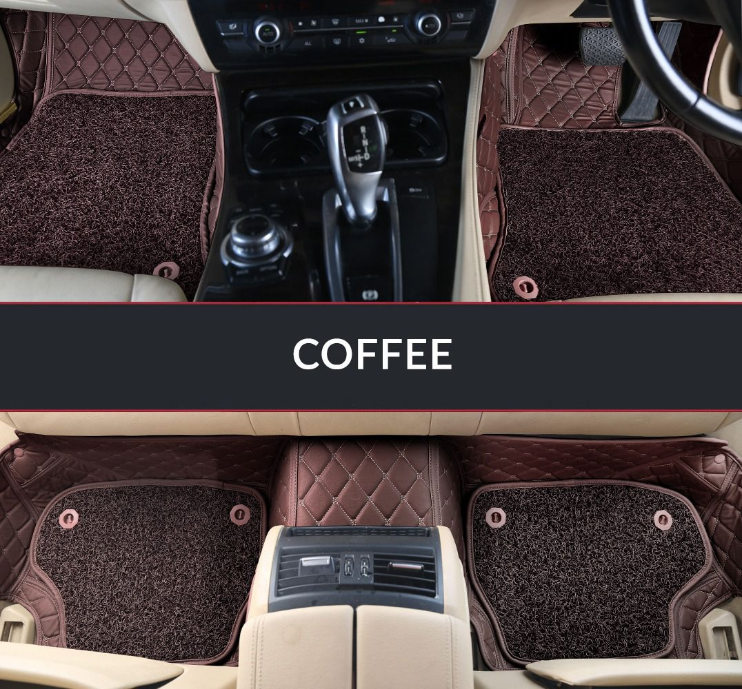 Autofurnish 7D Luxury Car Mats For Ford Aspire - Coffee - Set of 3 Mats