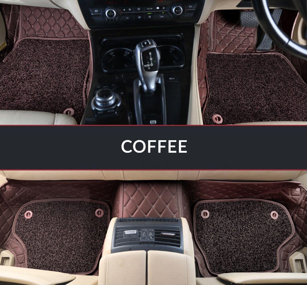 Autofurnish 7D Luxury Car Mats For Mahindra Thar - Coffee - Set of 3 Mats