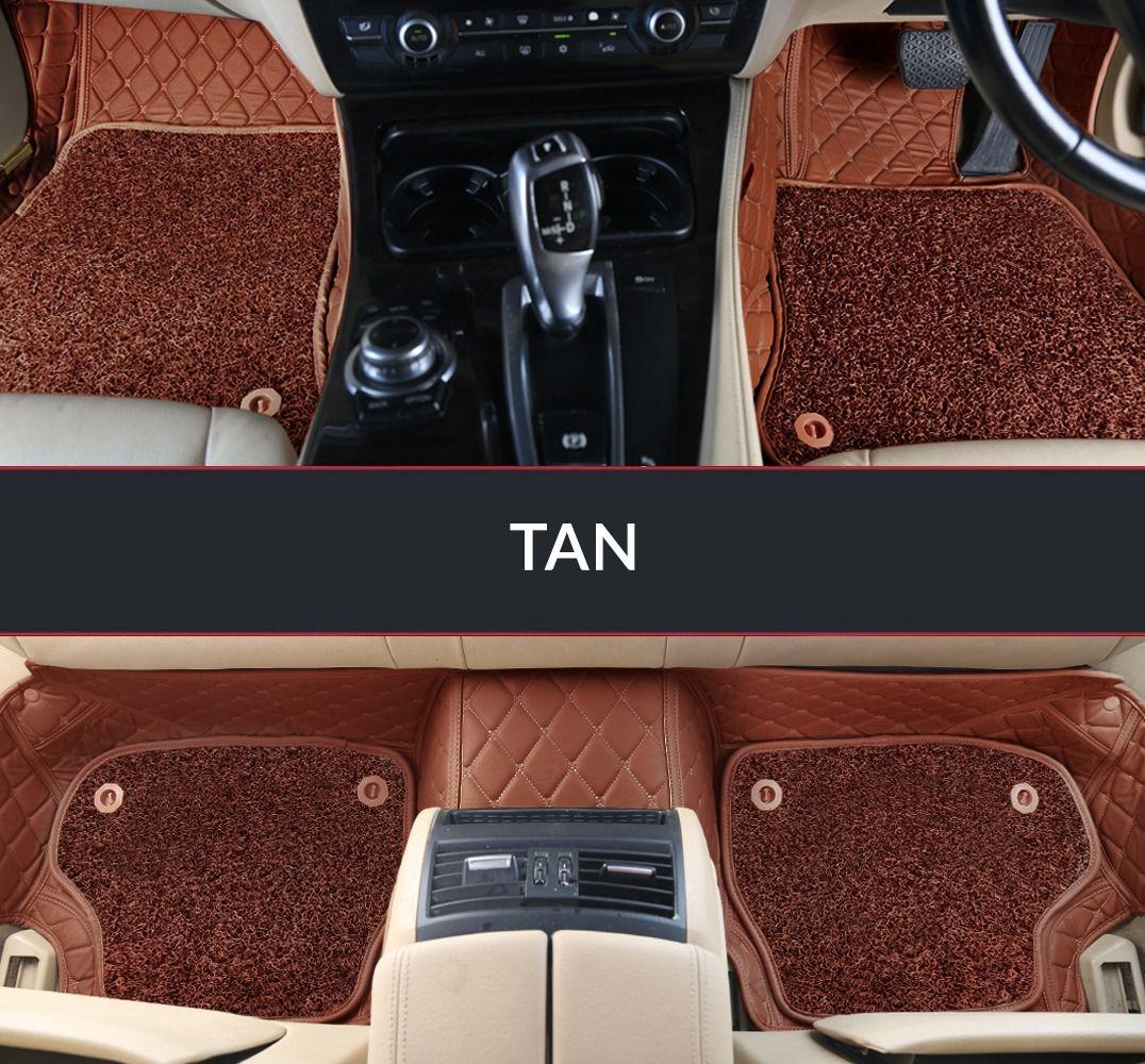 Autofurnish 7D Luxury Car Mats For Jaguar XF - Tan - Set of 3 Mats