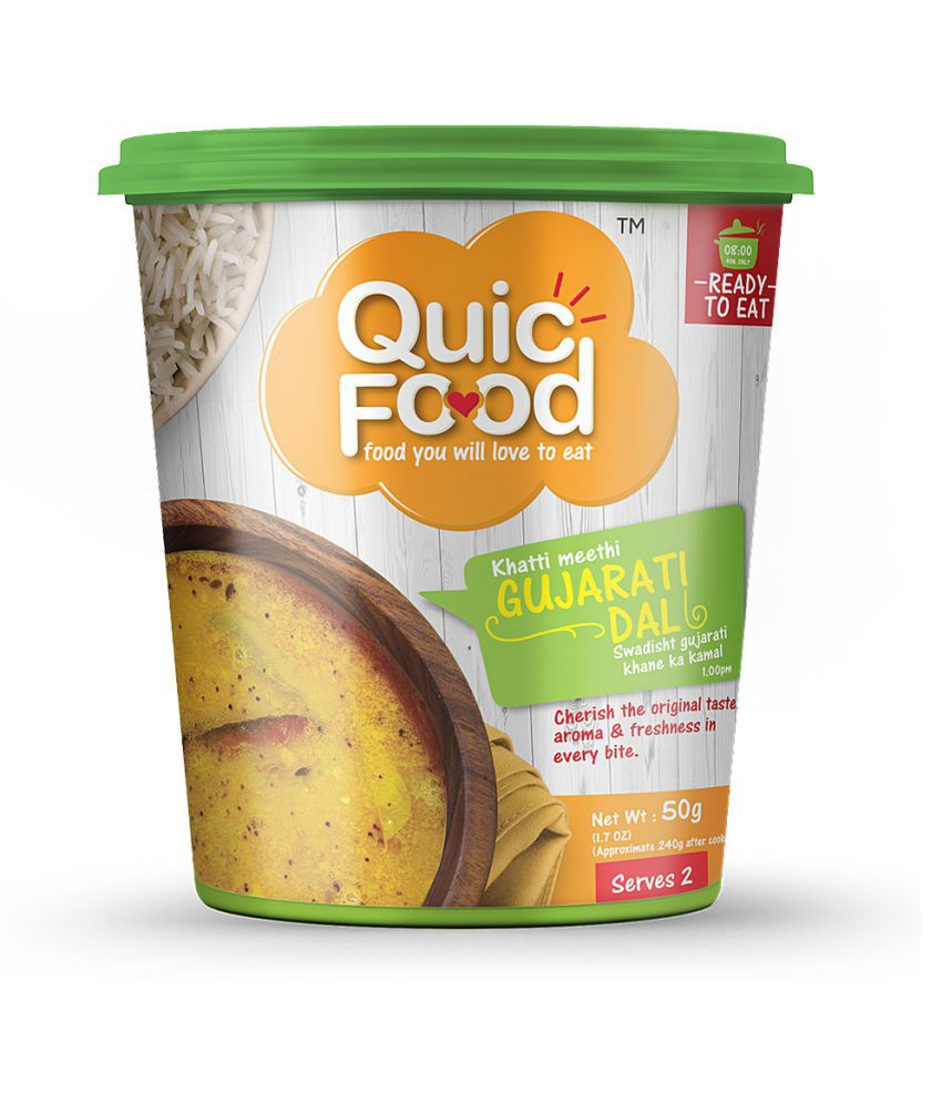 QUICFOOD READY TO EAT GUJARATI DAL 50 gm