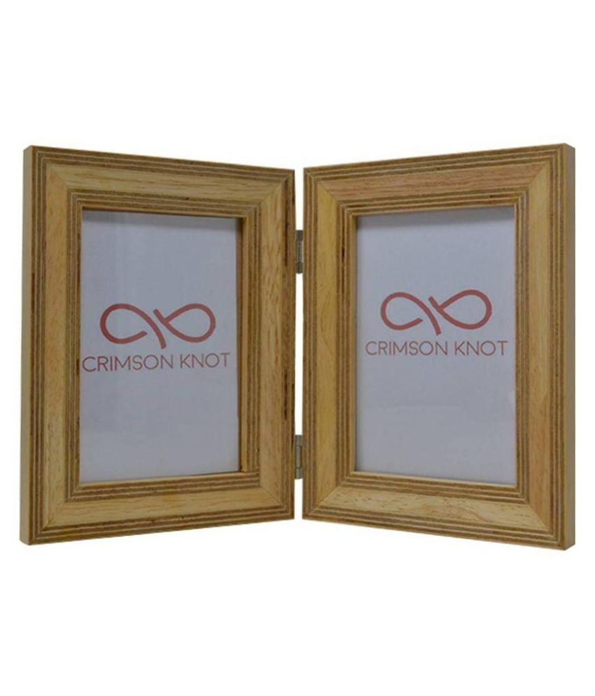 Crimson Knot Wood Brown Collage Photo Frame - Pack of 1