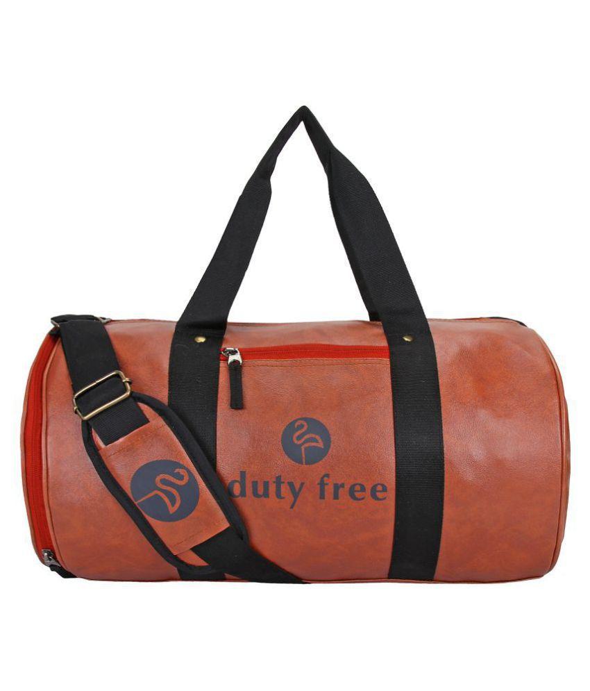 Duty Free Medium P U Leather Gym Bag Men Gyms Bags Shoulder Travel For Women Low Price Side Cross