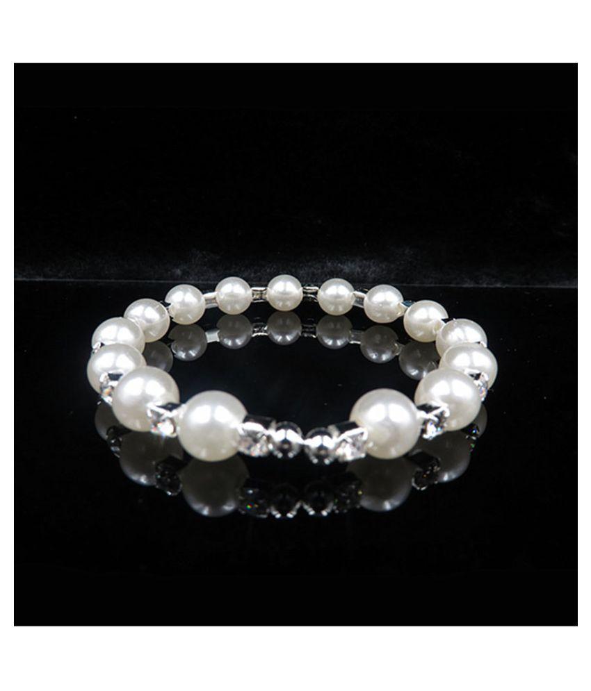 ETF18 White Designer Charm Bracelet