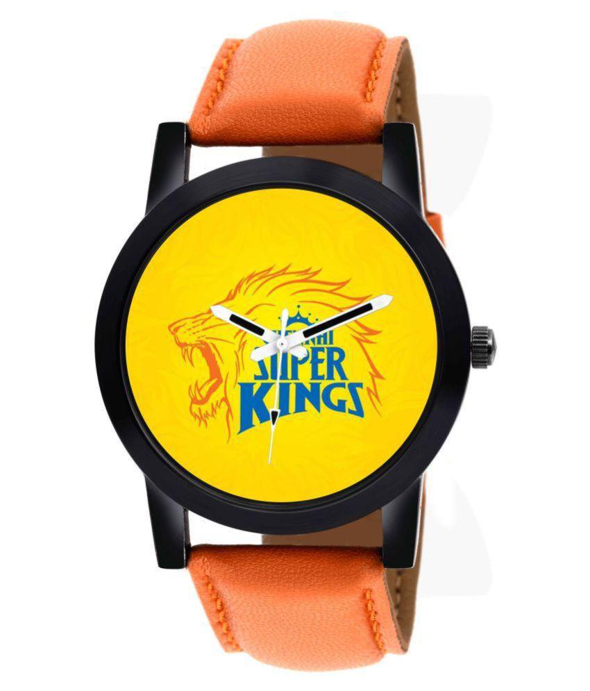 Gen-Z IPL series Chennai super kings Boys analog watch