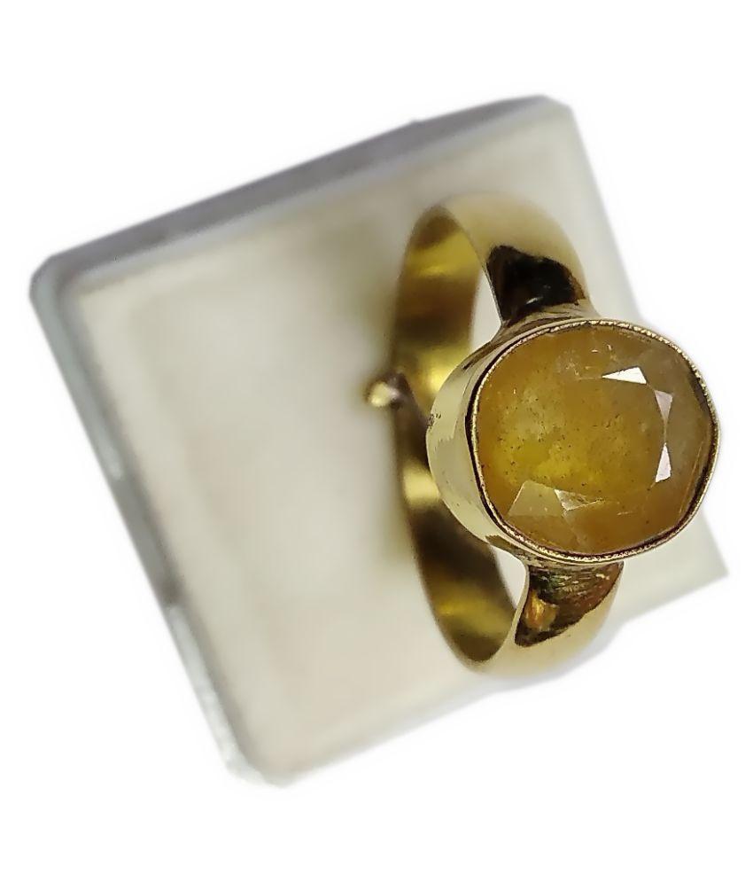 PRIYANSHU NAVARATN Panch Dhatu Panch Dhatu Sapphire Ring