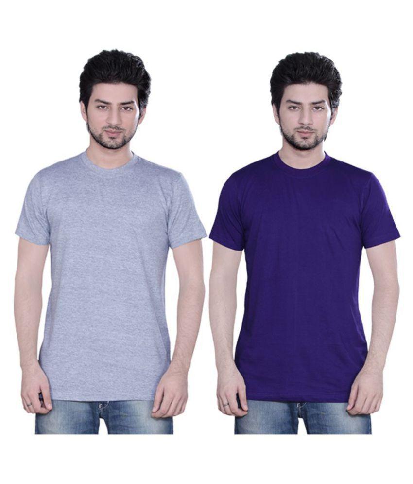 Zebu Purple Half Sleeve T-Shirt