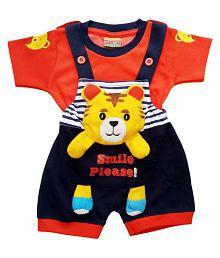 0813b2370 City Boy Kids Wear I-Top & Bottom Dungaree Set For Baby Boy Half Sleeves