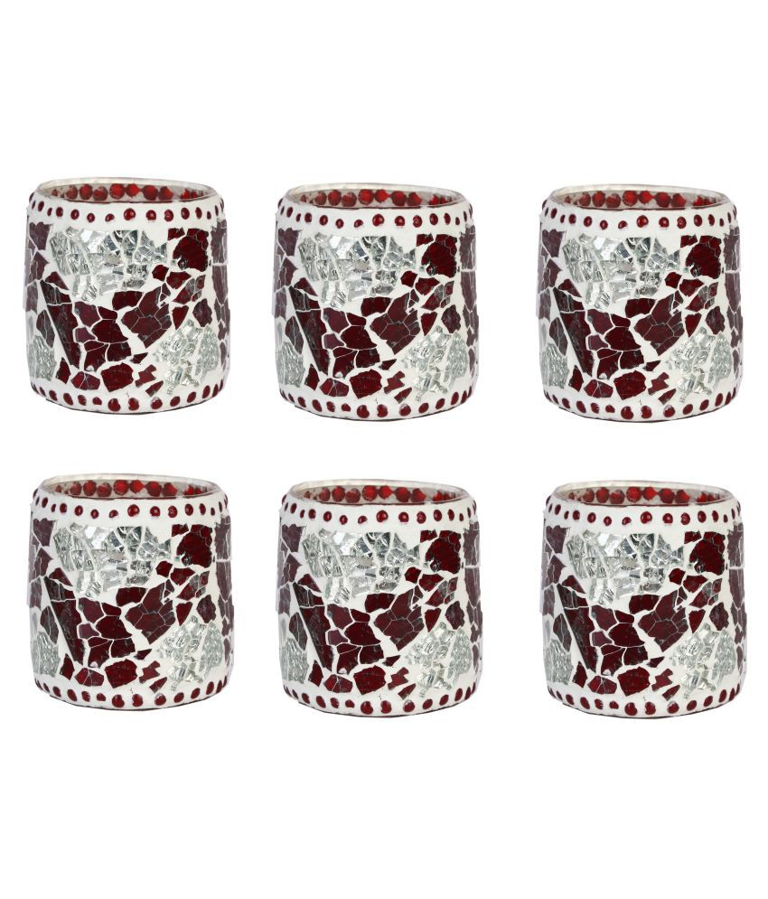 AFAST Multicolour LED Tea Light Candle Holder- Pack of 6