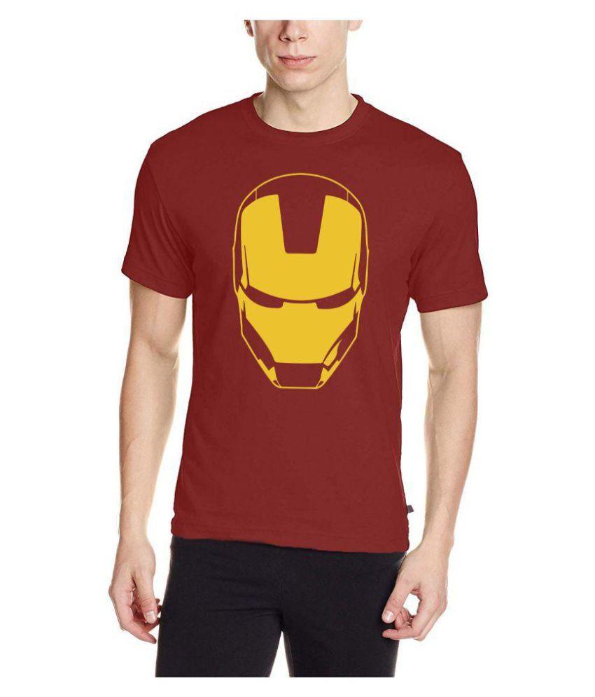 NAVI JERSEY Maroon Half Sleeve T-Shirt