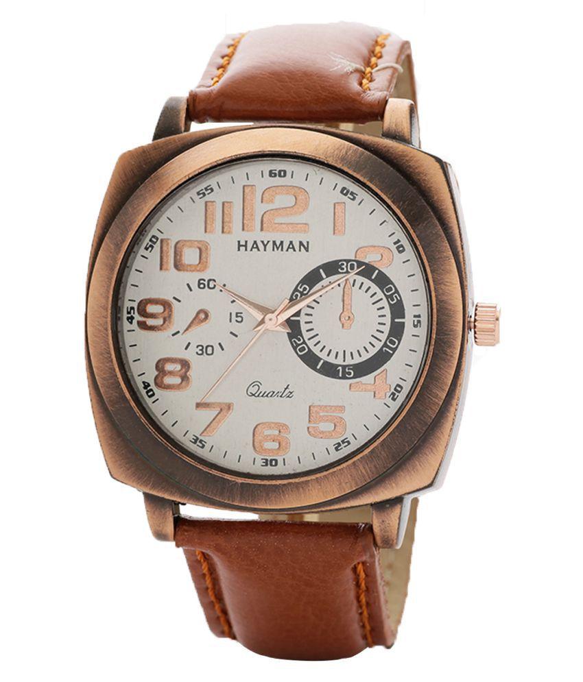 Hayman Analog Off-White Dial  Boys Watch (W-62)