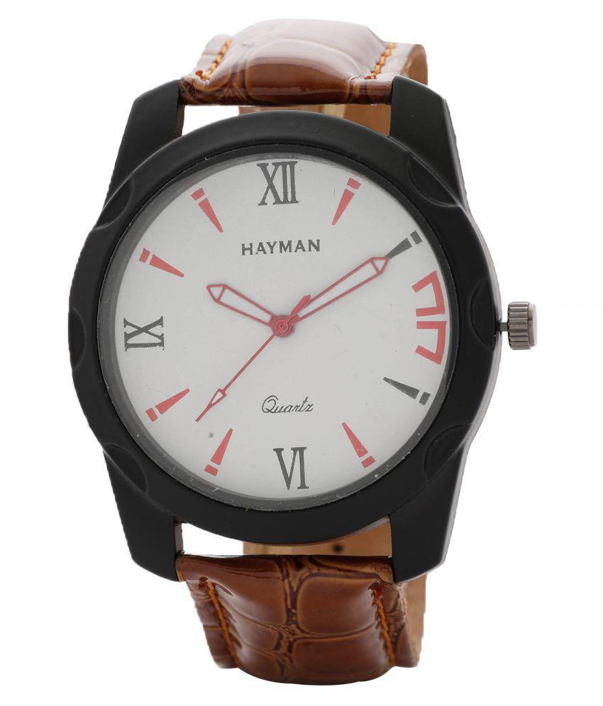 Hayman Analog Off-White Dial Boys Watch (W-60)