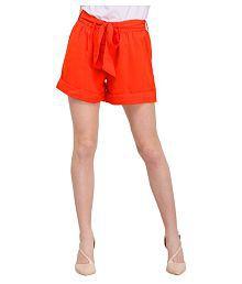 Smarty Pants Poly Cotton Hot Pants - Orange