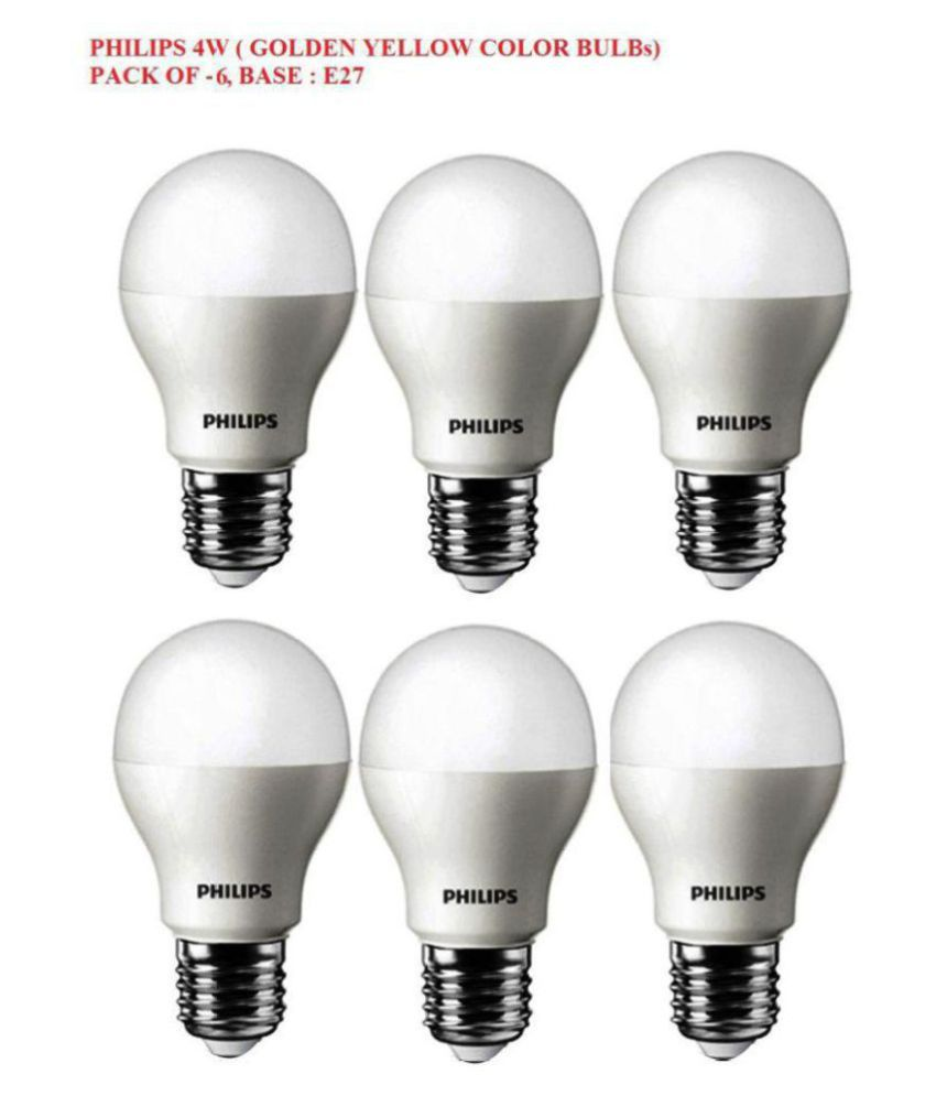 70ee12238 Philips 4W LED Bulbs Warm White - Pack of 6  Buy Philips 4W LED ...