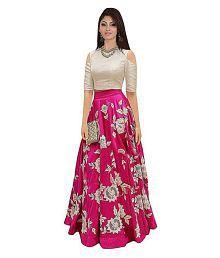 6d3971333be Quick View. YASHVI FAB Pink Bangalore Silk Unstitched Unstitched Lehenga