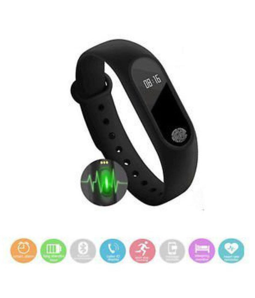 M2 Fitness Band with Heart Beat and Pedometer Sensor for All Android and iOS Devices