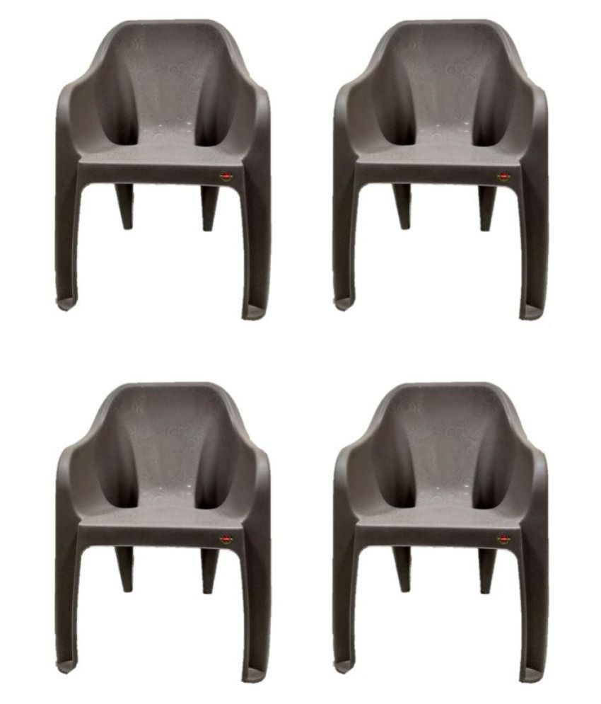 Surprising Cello Dynamo Plastic Cafeteria Set Of 4 Chair Grey Cjindustries Chair Design For Home Cjindustriesco