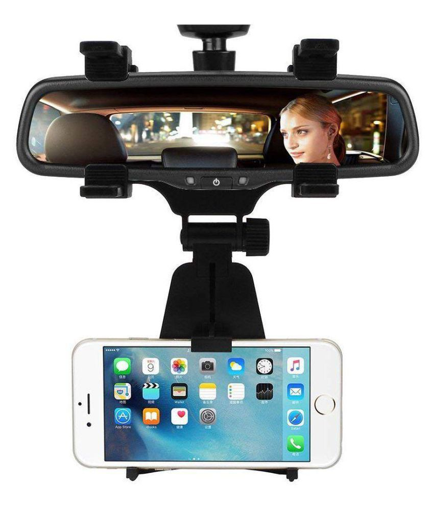 Drumstone 360 Degree Car Rearview Mirror Mount Mobile Phone