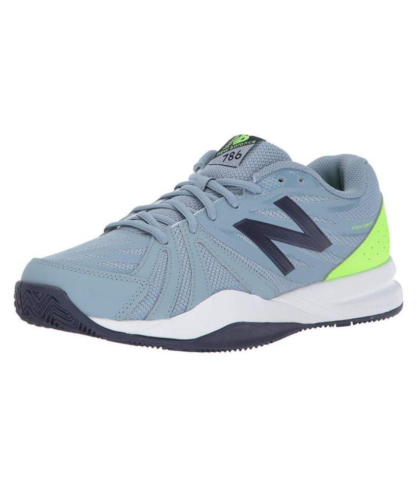 94a3d8854fa44 New Balance Men's 786 V2 Gray Tennis Shoes - Buy New Balance Men's 786 V2  Gray Tennis Shoes Online at Best Prices in India on Snapdeal