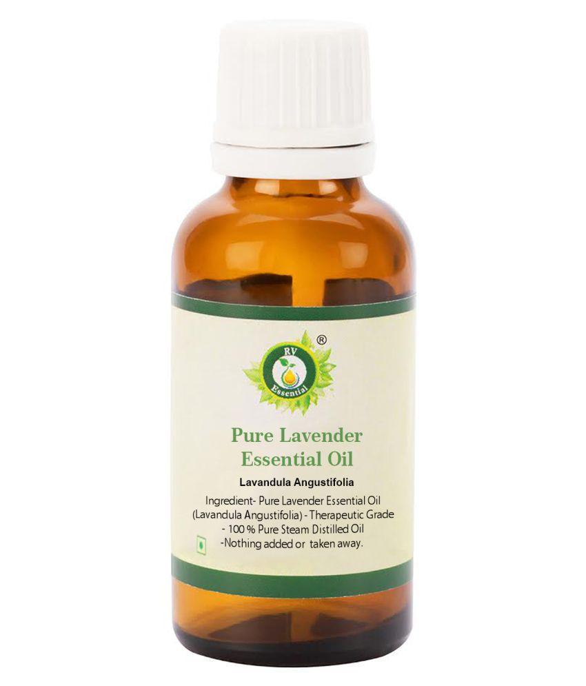 R V Essential Pure lavender Essential Oil 30ml- Lavandula Angustifolia (100% Pure and Natural Steam Distilled)
