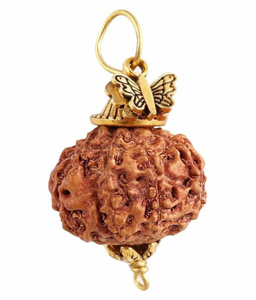 Rudra Blessings 7 Mukhi Indonesian Rudraksha Pendant with Butterfly Accessory