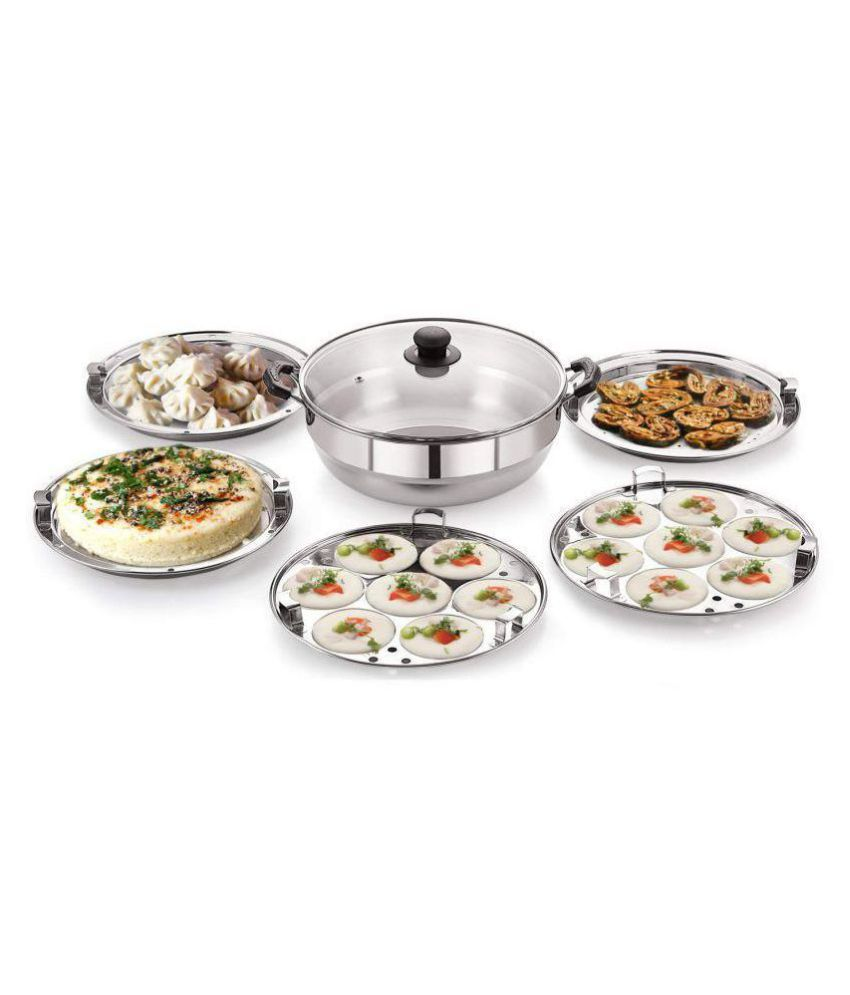 BMS Lifestyle 5-in-1 multi kadhai 5 Piece Cookware Set