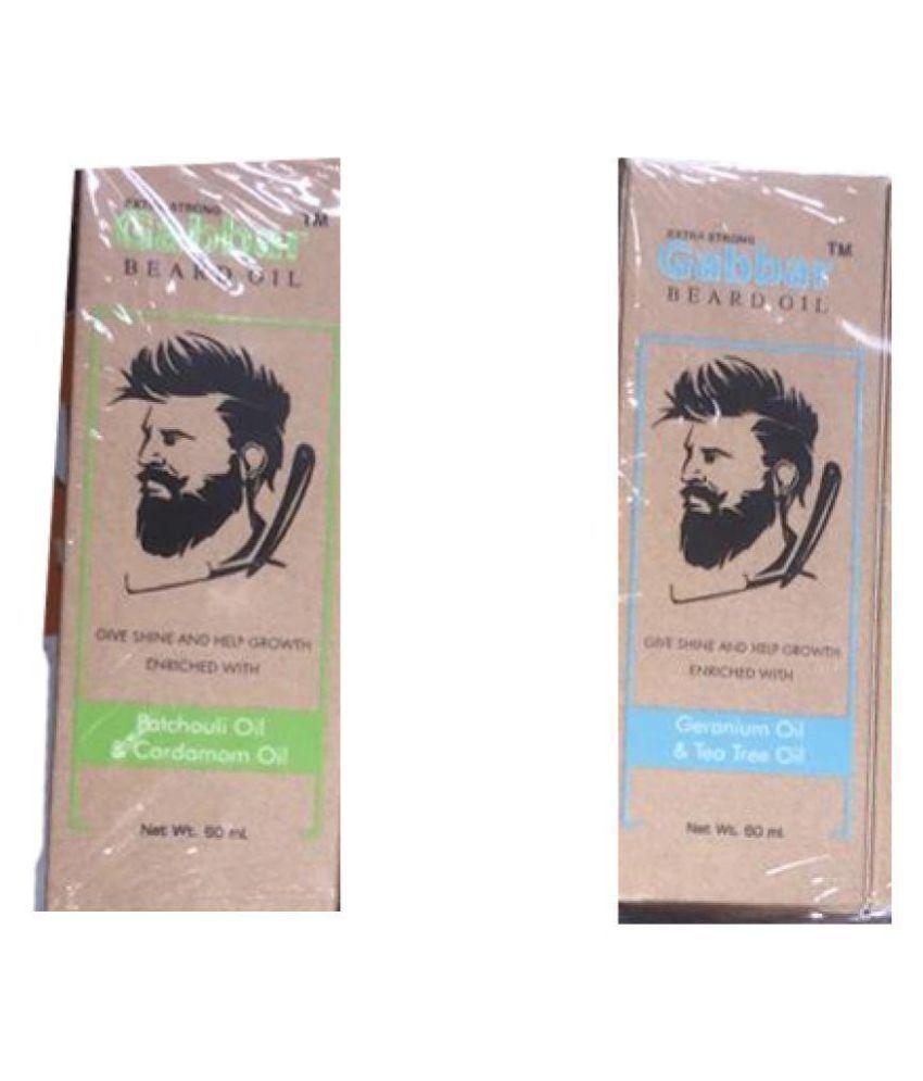ELEGANCIO Gabbar Beard Oil Cold Wax 60 ml Pack of 2