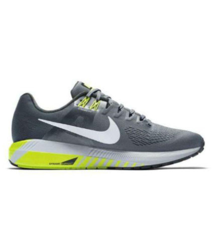 Beca sentido Endurecer  Nike Zoom Structure 21 Black & Yellow Running Shoes Black: Buy Online at  Best Price on Snapdeal