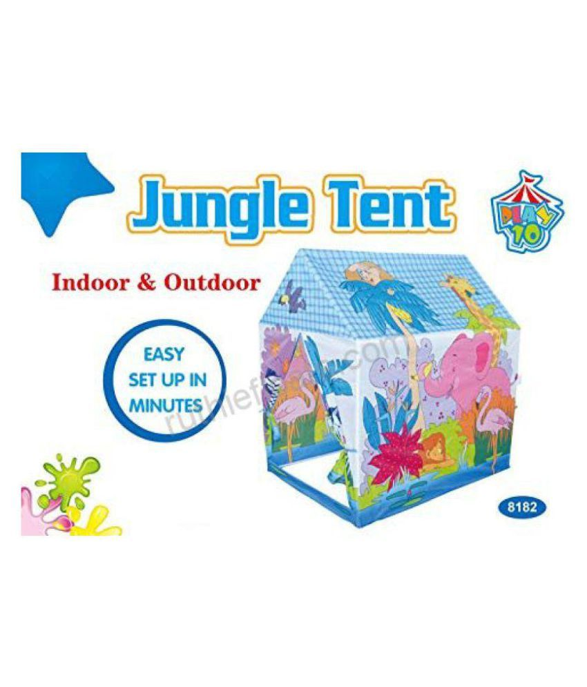 theme tent house for kids portable indoor outdoor tall jungle home rh snapdeal com