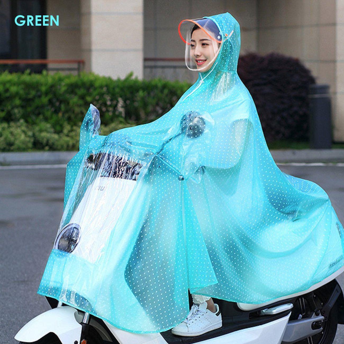 Happy2BuY Waterproof Long Raincoat - Green