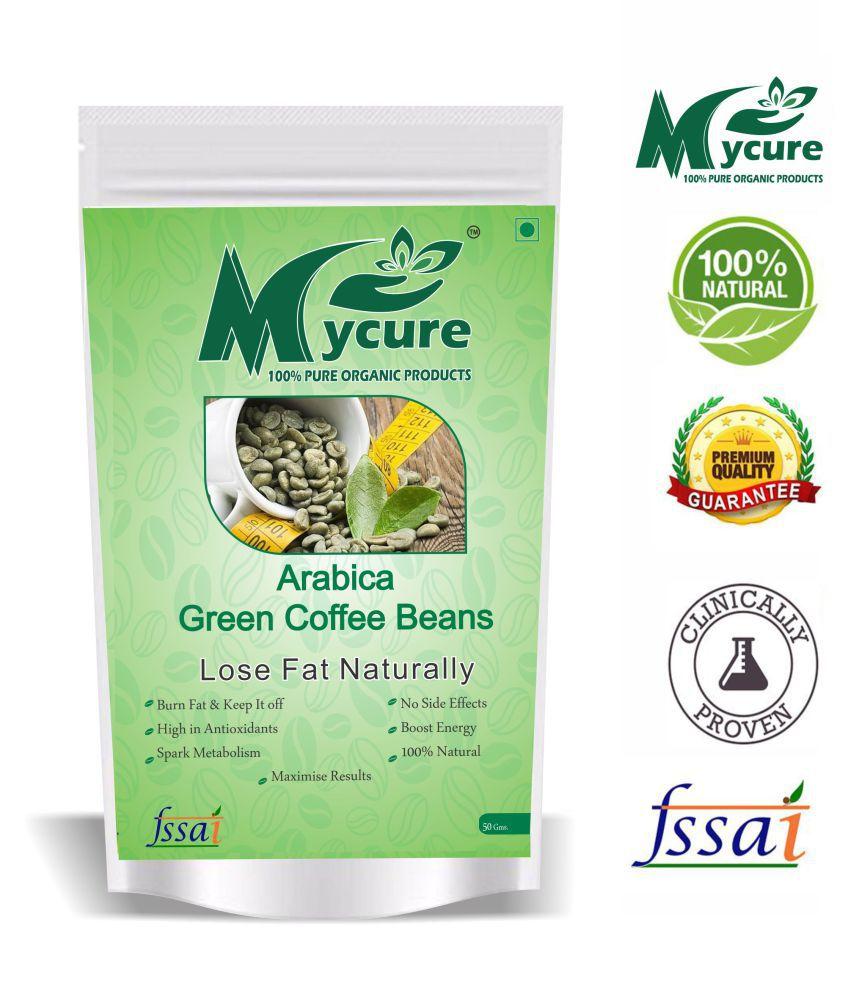 mycure Organic Green Coffee Beans 50 Grams 50 gm Fat Burner Beans