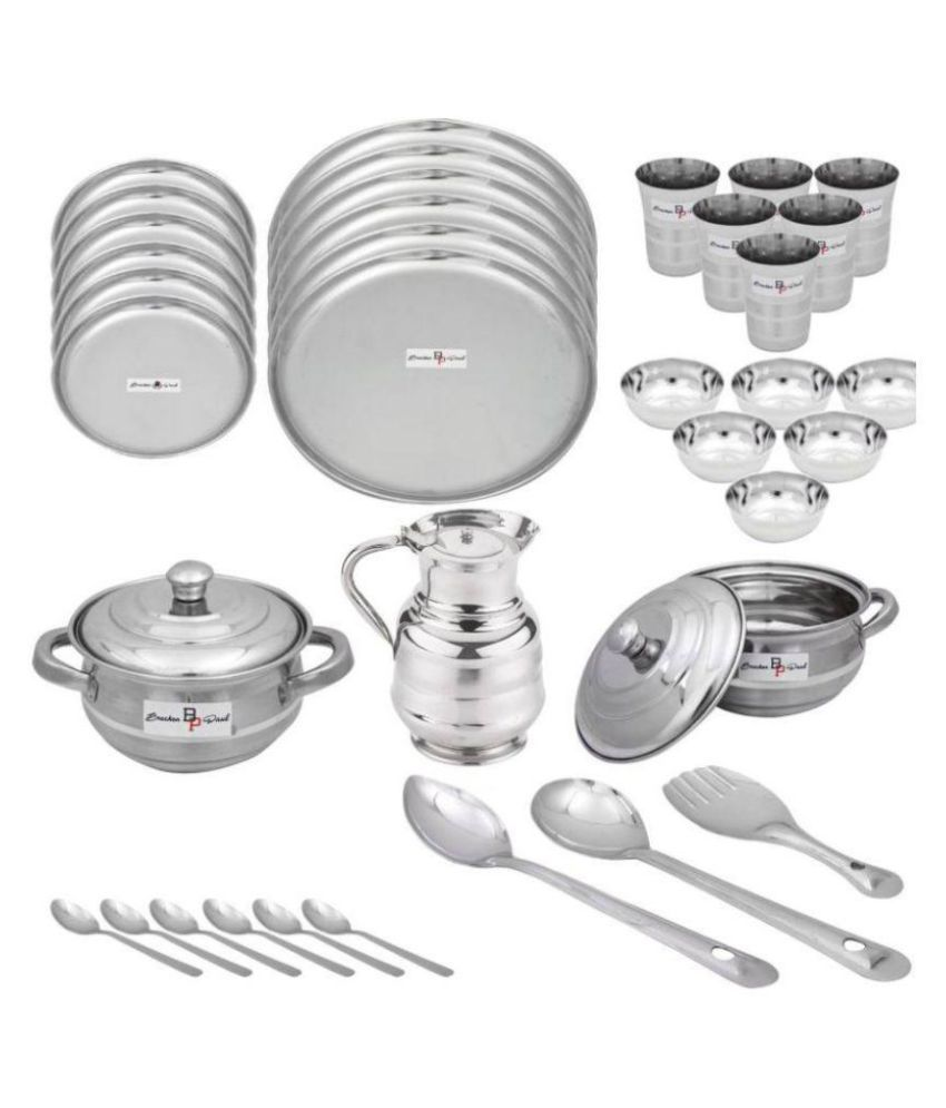 Brecken Paul Stainless Steel Dinner Set of 36 Pieces