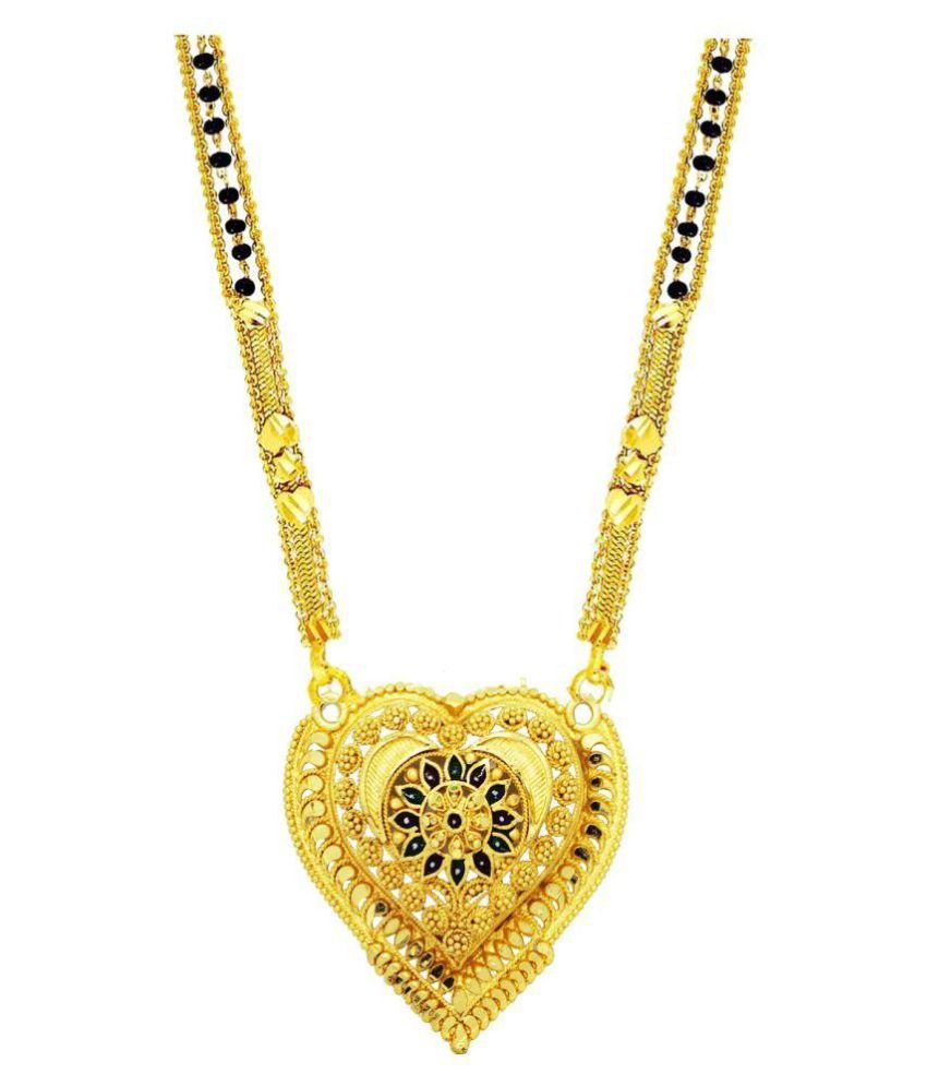 Gold Plated Fashionable Stylish Fancy Mangalsutra For Girl & Women