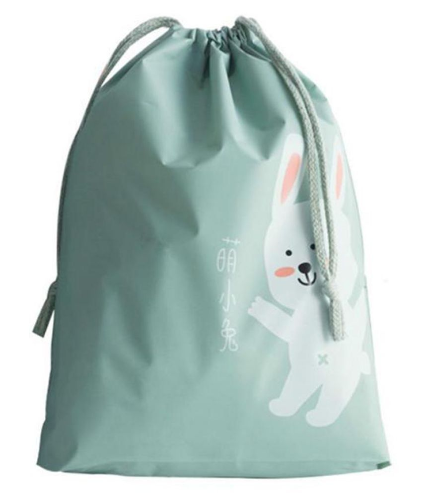 Waterproof Cartoon Travel Shoes Clothes Organizer Bag Drawstring Cosmetic Bag