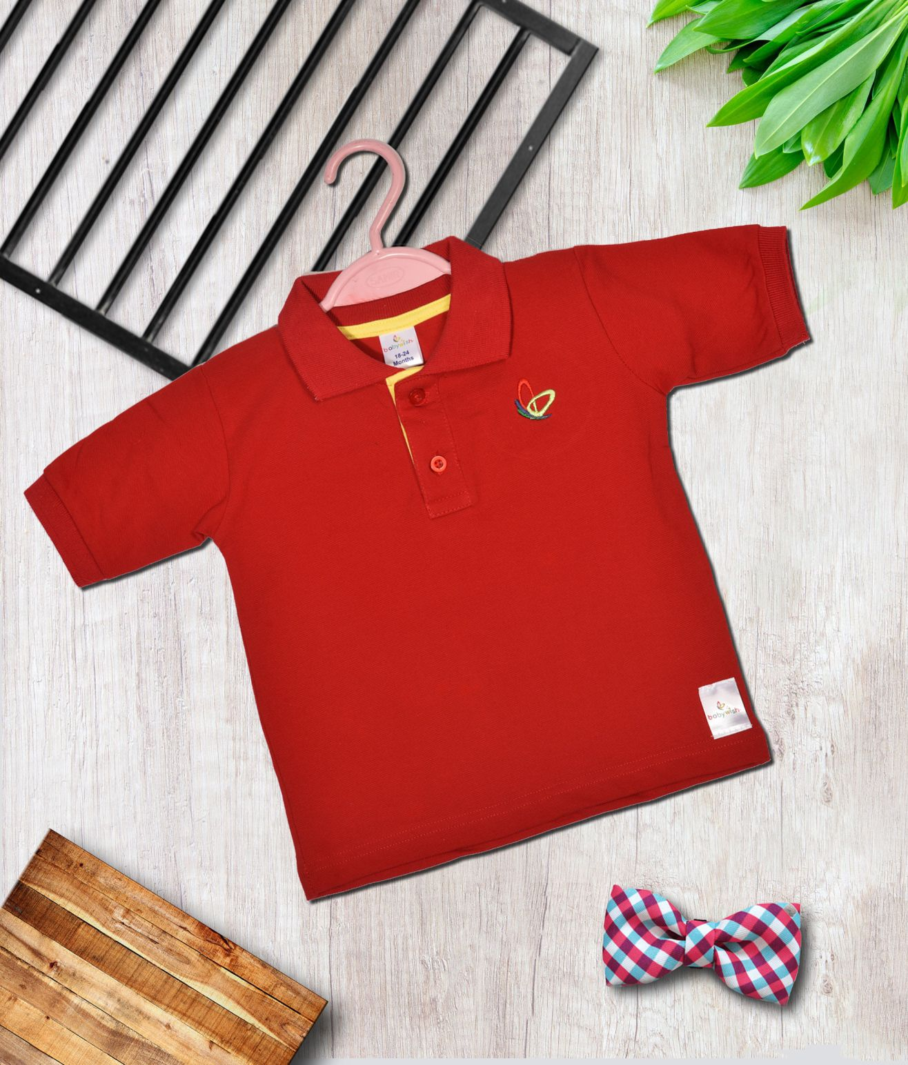 636ea9e6b65 2) Babywish Newborn Toddler Kids Baby Boys Girls Clothes Adorable Solid Red  Unisex Causal Wear ...