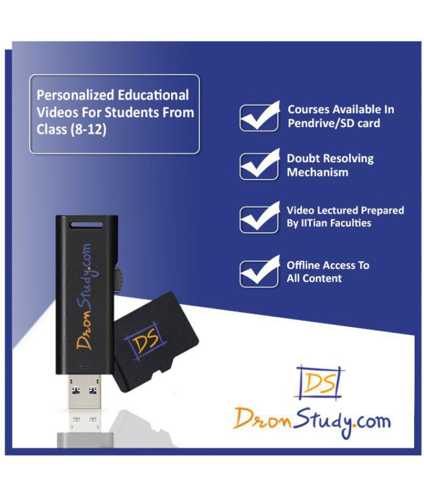 DronStudy CBSE Class 10 Computer Science Video Lecture Course in Hindi Pen Drive