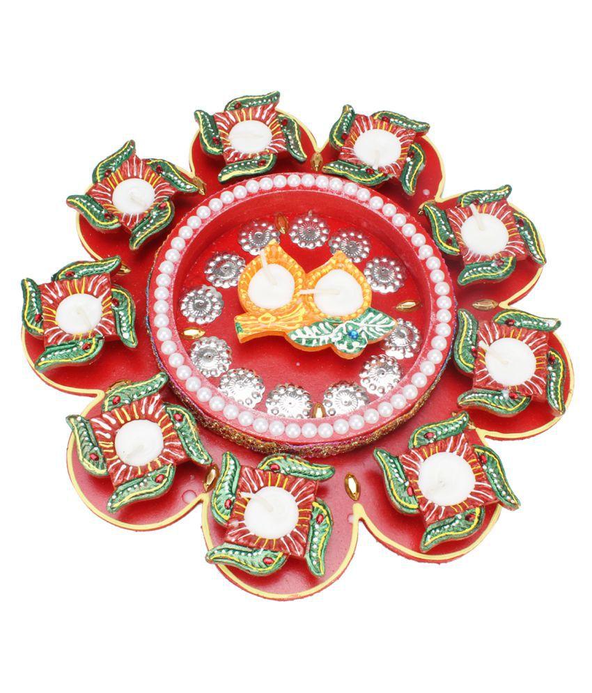 Kritimaa Multicolour Wax Tea Light - Pack of 1