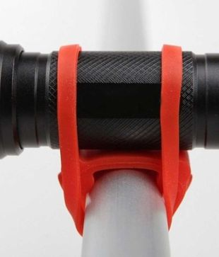 2//5Pc Bicycle Cycling Silicone Elastic Strap Bandage Light Lamp Mount Holder .