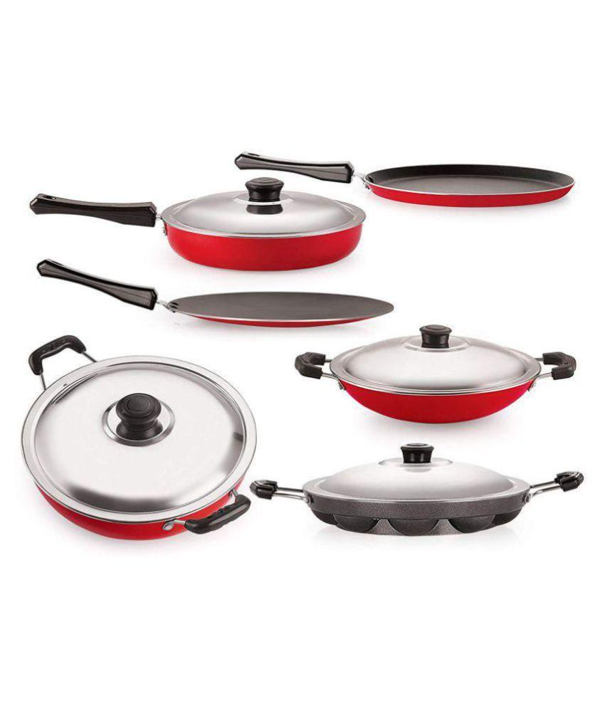 BMS Lifestyle Non Stick Cookware 6 Piece Cookware Set