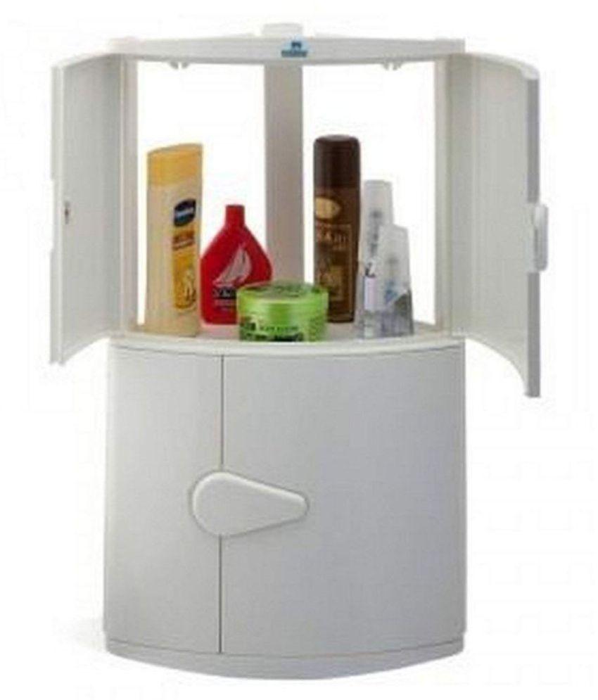 buy nilkamal nilkamal corner cabinet 2 door ivory plastic bathroom rh snapdeal com