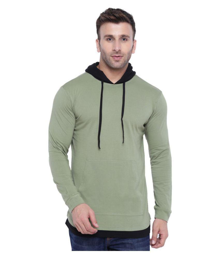 Gritstones Green Full Sleeve T-Shirt Pack of 1
