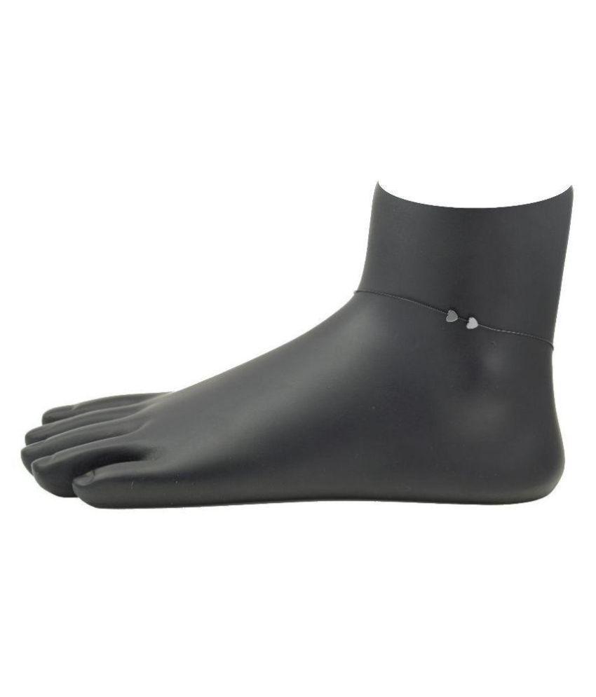 High Trendz Elegant Black Hearts Anklet For Women And Girls
