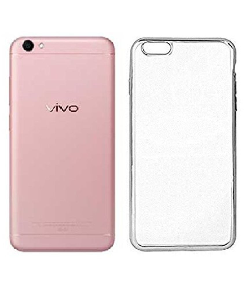 Vivo V5 Plus Soft Silicone TPU Transparent Back Case Cover With Free 360 Degree Rotating Metal Ring Holder by D DESIGN