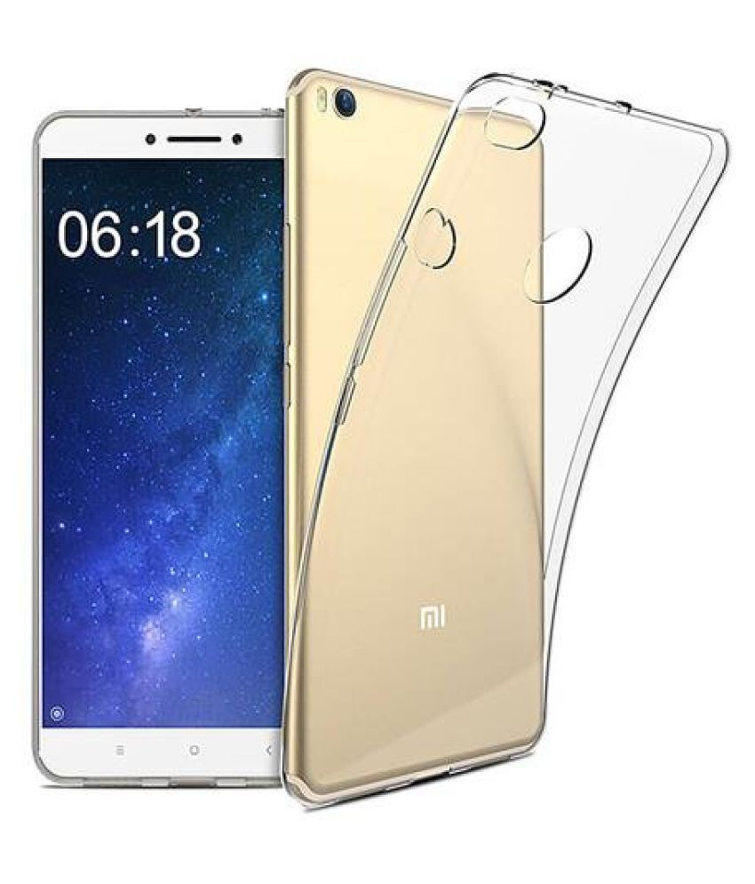 Xiaomi Redmi Max2 Soft Silicone TPU Transparent Back Case Cover With Free 360 Degree Rotating Metal Ring Holder by D DESIGN