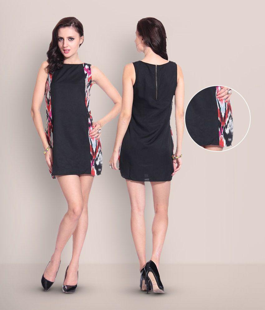 Concepts Black Poly Crepe Dresses