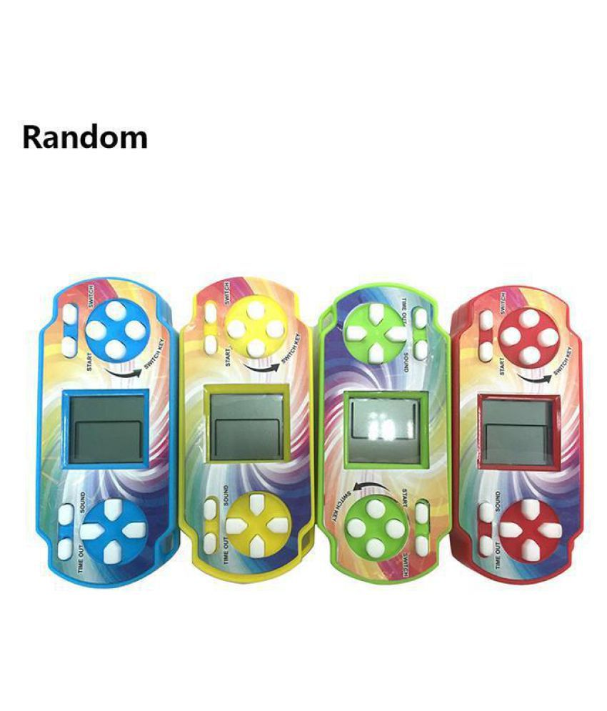 Mini Classic Tetris Electronic Game Machine Children Puzzle Handheld Console