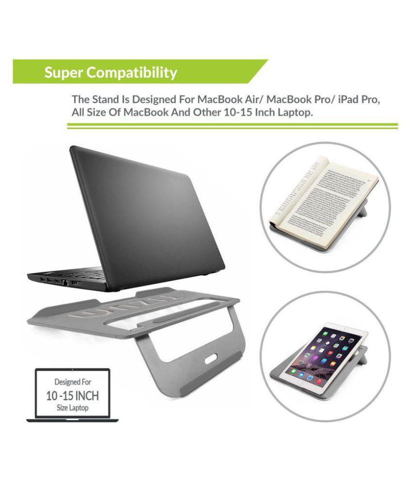 Tizum Laptop Table For Upto 381 Cm 15 Gray Folding Laptop Stand