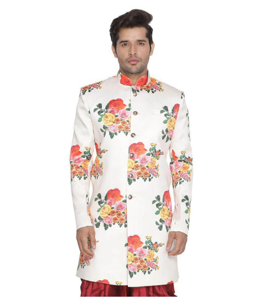 Vastramay Multi Cotton Blend Sherwani