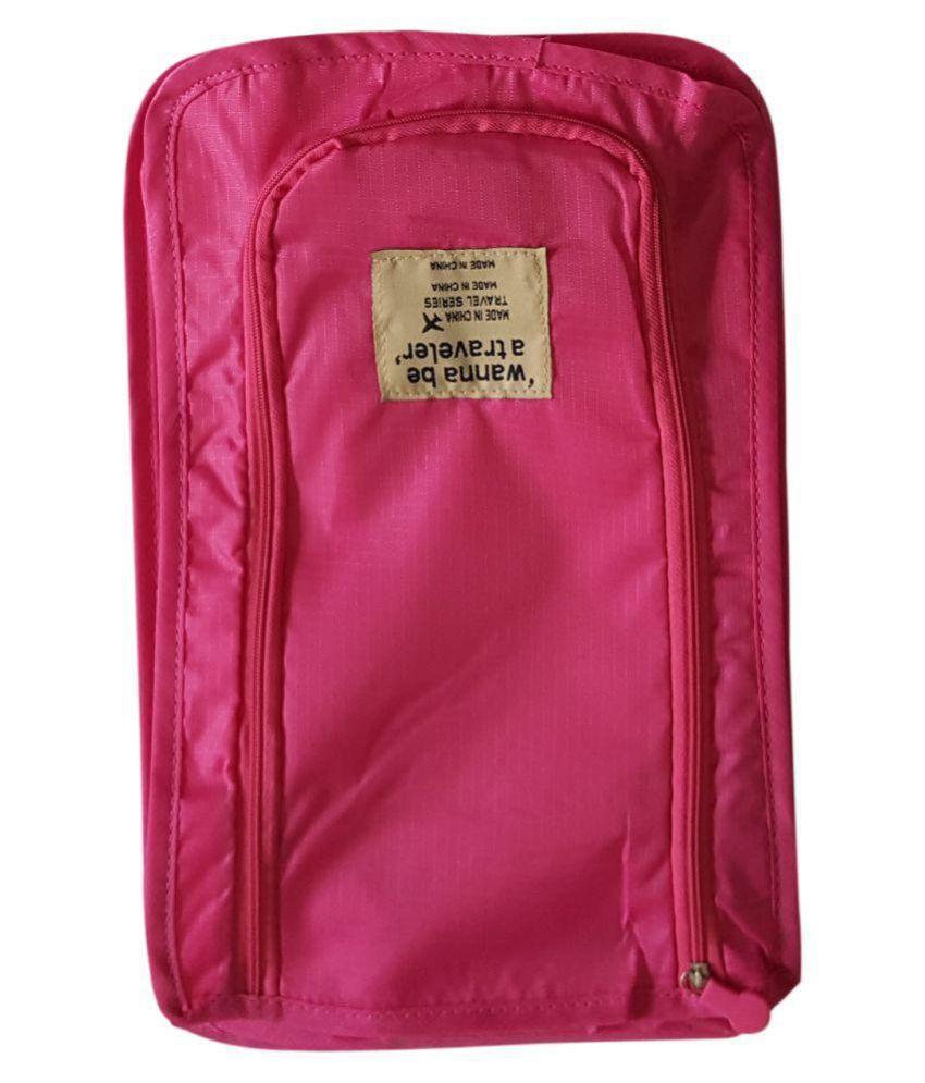 Decorika Pink Travel Shoe Organizer