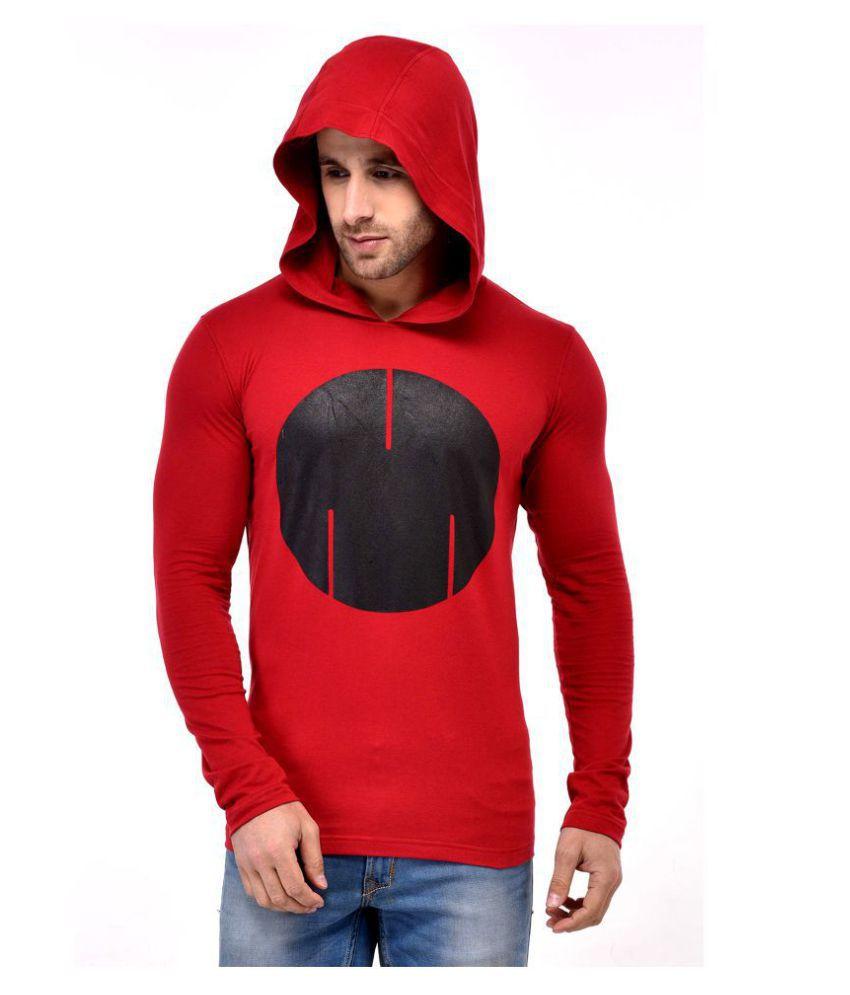GESPO Red Full Sleeve T-Shirt Pack of 1