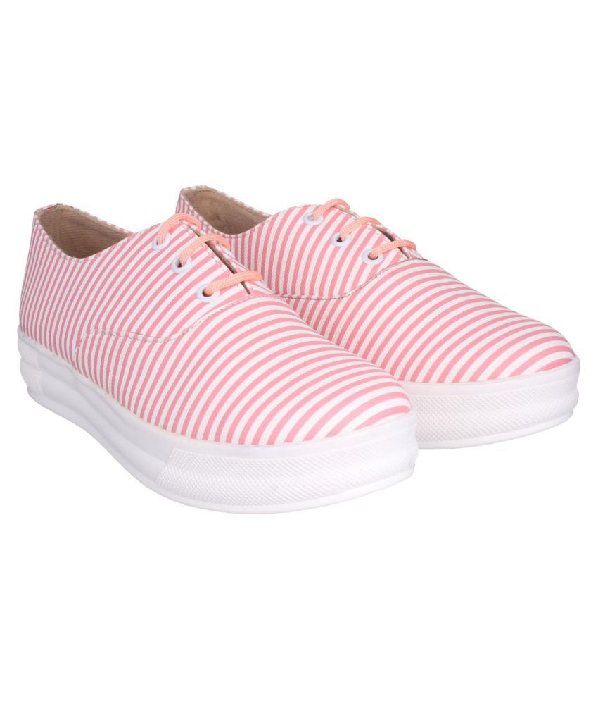 SHEZONE Pink Casual Shoes